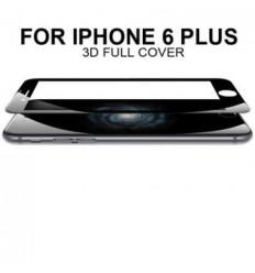 iPhone 6 plus protector cristal templado curvo negro