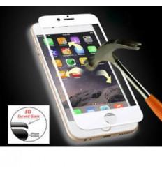 iPhone 6/6S protector cristal templado blanco curvo