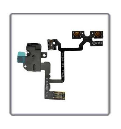 iPhone 4 original headphone audio jack flex cable black