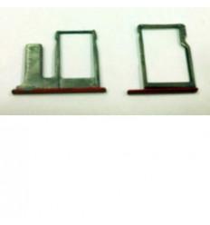 Htc one E8 set 2 piezas soporte sim y memoria rojo
