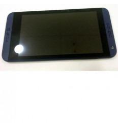 Htc Desire 610 pantalla lcd + táctil negro + marco azul orig