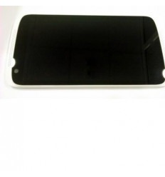 Htc Desire 526 pantalla lcd + táctil negro + marco blanco or