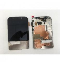 Blackberry Q20 pantalla lcd + táctil negro + marco original