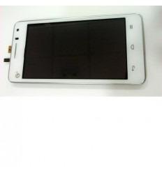 Huawei Ascend G600 U8950D pantalla lcd + táctil blanco + mar