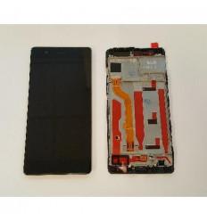 Huawei P9 original display lcd + táctil negro + marco origin