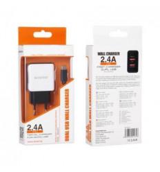 Cargador de Viaje Dual 2 en 1 MICRO USB 2.4A 6234