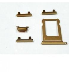iPhone 7 set 5pcs pequeñas partes dorado