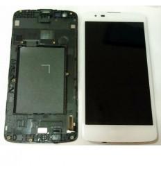 Lg K8 K350N pantalla lcd + tactil blanco + marco original