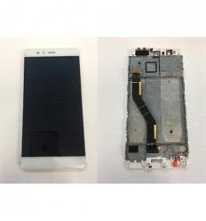 Huawei p9 plus lcd + tactil blanco + marco original