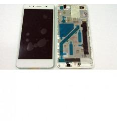 Bq Aquaris X5 pantalla lcd + tactil blanco + marco gris orig