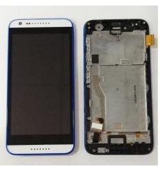 HTC Desire 620 pantalla tactil + LCD + marco azul original