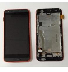 HTC Desire 620 pantalla tactil + LCD + marco rojo original