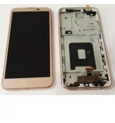 LG X Screen k500N K500H pantalla tactil + LCD + marco rosa o