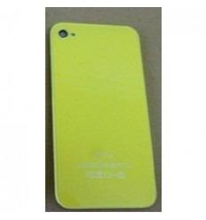 iPhone 4 cristal trasero amarillo