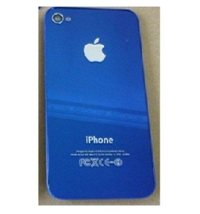 iPhone 4 back cover black blue