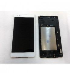 LG X Style K200 pantalla lcd + tactil blanco + marco origina