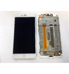 ZTE Nubia Z11 MiniS NX549J original display lcd with white touch screen with frame remanufacturado