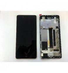 ZTE Nubia Z11 NX531J pantalla lcd + tactil negro + marco dor