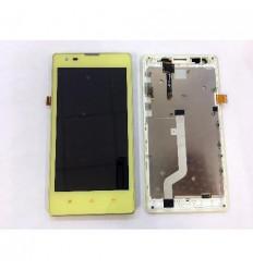 Xiaomi Redmi 1s 3G pantalla lcd + tactil amarillo + marco or