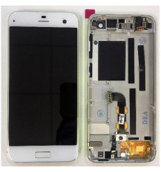 ZTE blade S7 T920 pantalla lcd + tactil blanco + marco amari