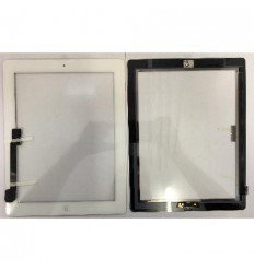iPad 3 white touch screen with complete home button with adh