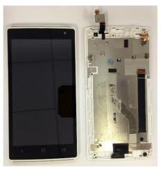 Acer Liquid Z150 Z5 pantalla lcd + tactil blanco + marco ori