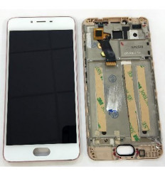 Meizu Meilan 3S m3s pantalla lcd + tactil blanco + marco ros