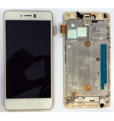 BQ Aquaris U Plus original display lcd with white touch screen with frame