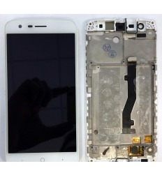 ZTE Blade V8 Lite original display lcd with white touch screen with frame