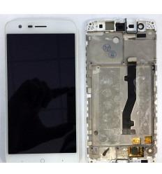 ZTE BLADE V8 LITE PANTALLA LCD + TACTIL BLANCO + MARCO ORIGINAL