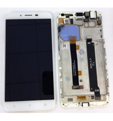 ASUS ZENFONE 3 MAX ZC553KL PANTALLA LCD + TACTIL BLANCO + MARCO ORIGINAL