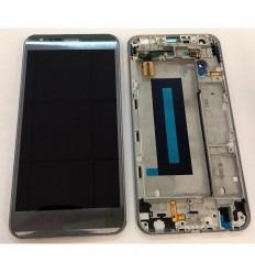 LG X CAM K580 PANTALLA LCD + TACTIL GRIS + MARCO ORIGINAL