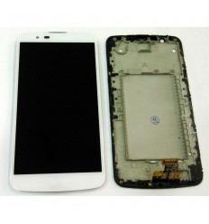 LG K10 K410 K420N K430y K430DS K430DSE K430DSF pantalla lcd + táctil blanco + marco original