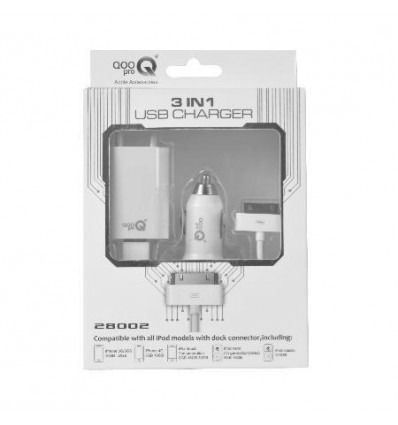 3in1 USB Charger for iPhone and iPod 6207