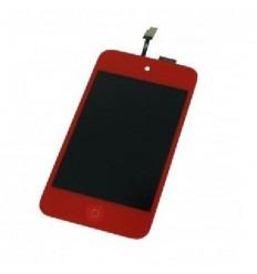 iPod Touch 4 pantalla lcd + táctil roja + botón home rojo