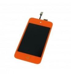 iPod Touch 4 pantalla lcd + táctil naranja + botón home nara