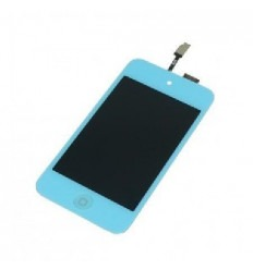 iPod Touch 4 pantalla lcd + táctil azul celeste + botón home