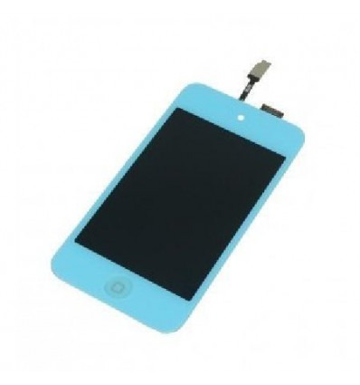 iPod touch 4 lcd whith light blue touch screen and home but