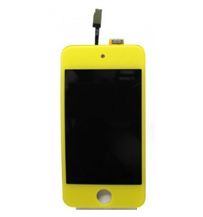iPod touch 4 lcd whith touch screen yellow and home button