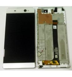 SONY XPERIA C6 XA ULTRA F3211 F3212 F3213 F3216 PANTALLA LCD + TACTL BLANCO + MARCO ORIGINAL