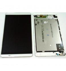 HUAWEI MEDIAPAD M2 PANTALLA LCD + TACTIL BLANCO + MARCO ORIGINAL