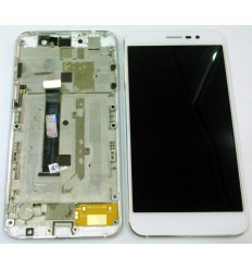 ZTE Blade A910 original display lcd with white touch screen with frame