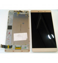 HUAWEI ASCEND P8 MAX PANTALLA LCD + TACTIL DORADO + MARCO ORIGINAL