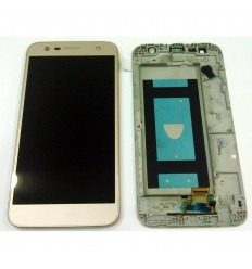 LG X POWER 2 PANTALLA LCD + TACTIL ROSA + MARCO ORIGINAL