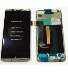 ZTE AXON 7 PANTALLA LCD + TACTIL NEGRO + MARCO ORIGINAL