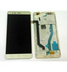 LENOVO K5 NOTE PANTALLA LCD + TACTIL DORADO + MARCO ORIGINAL