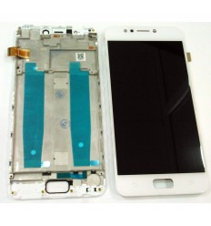Asus Zenfone 4 Max ZC520KL original display lcd with white touch screen with frame