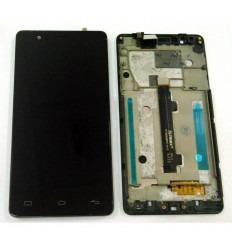BQ E5 HD TFT5K0858FPC PANTALLA LCD + TACTIL NEGRO + MARCO NEGRO ORIGINAL