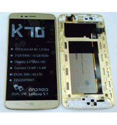 ELEPHONE P8000 PANTALLA LCD + TACTIL DORADO + MARCO ORIGINAL