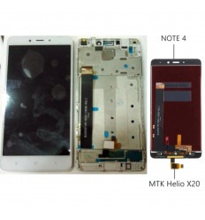 Xiaomi Redmi Note 4 original display lcd with white touch screen with frame Version 1 Helio